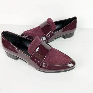 Marc Fisher | burgandy suede & leather loafers